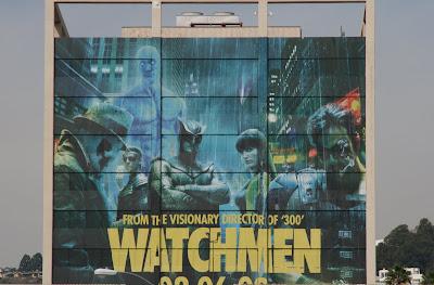 Watchmen group movie billboard