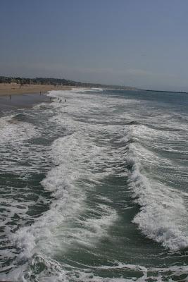 Breaking waves at Venice Beach