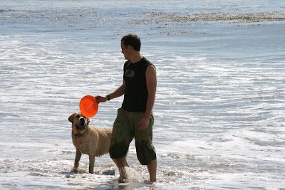Frisbee fun at Arroyo Burro Beach