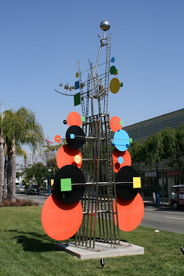 Colourful Peter Shire geometric sculpture