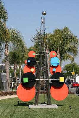 Bright and colourful West Hollywood sculptures