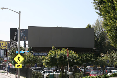Blank billboard in Los Angeles