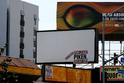 Billboard sign for lease