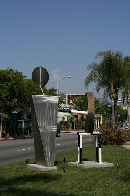 Peter Shire sculpture on Santa Monica Blvd
