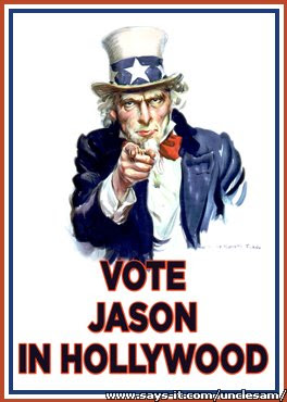 Uncle Sam vote for Jason in Hollywood poster
