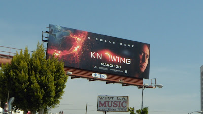 Knowing movie billboard