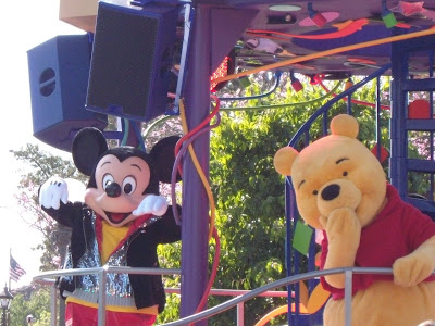 Mickey Mouse and Winnie the pooh at Disneyland
