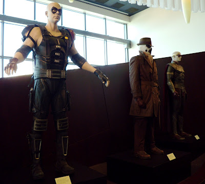 Watchmen movie costumes on display