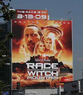 Disney's Race to Witch Mountain movie billboard
