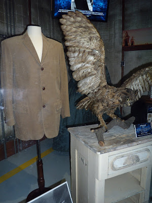 Psycho stuffed Owl and Norman Bates jacket movie costume