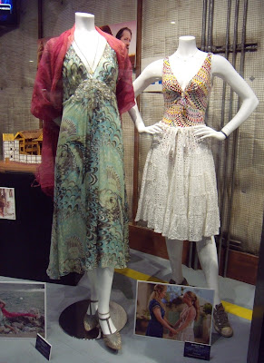Mamma Mia movie costumes displayed at Universal Studios Hollywood