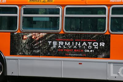 Terminator Salvation movie bus poster