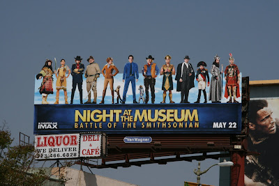 Night at the Museum Battle of the Smithsonian billboard