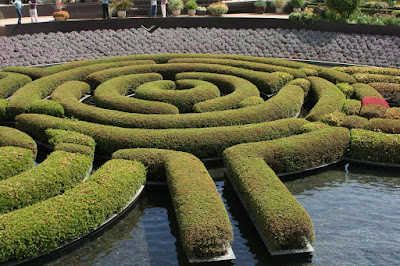 Getty Center Central Garden floating azalea maze
