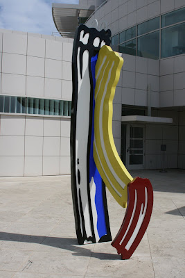 Colourful Getty Center sculpture