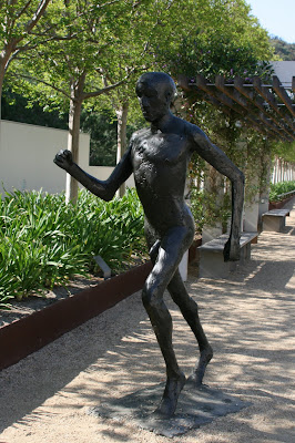 Elisabeth Frink's Running Man bronze sculpture
