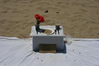 Just plain hungry beach art