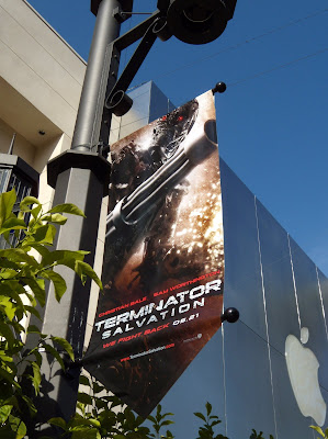 Terminator Salvation movie banner at The Grove