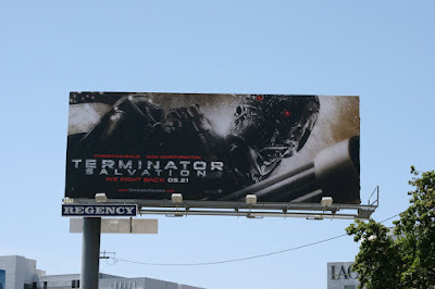 Terminator Salvation cyborg movie billboard