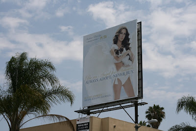PETA Angel for Animals billboard on Beverly Blvd