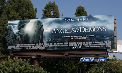Angels and Demons film teaser billboard