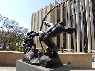 Herakles - The Archer sculpture 1909 by Bourdelle at LACMA