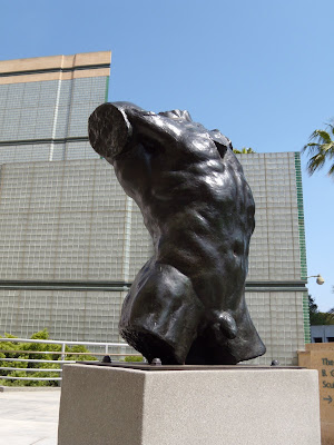 Rodin's Marsyas Torso of the Falling Man sculpture at LACMA
