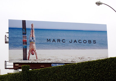 Male model Marc Jacobs swimwear billboard
