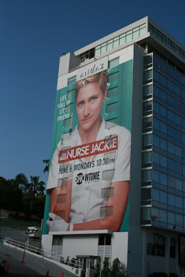 Nurse Jackie TV show building billboard
