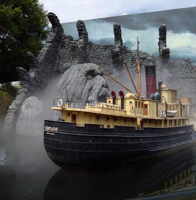 King Kong ship model on Universal Studios Tour