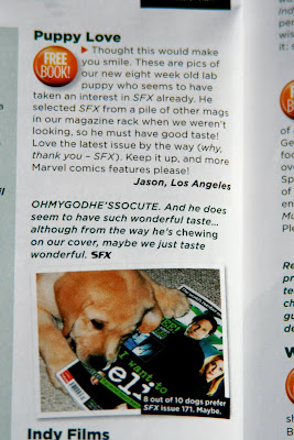SFX magazine Cooper Letters page star