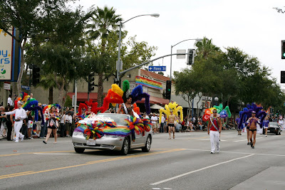 Carnival spirit at WEHO Pride Parade 2009
