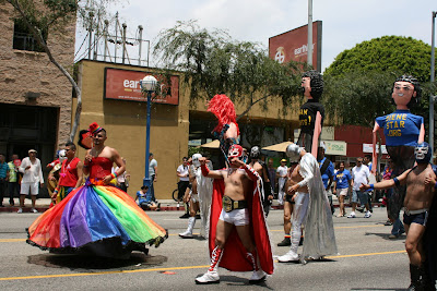 Gay wrestlers at WEHO Pride Parade 2009