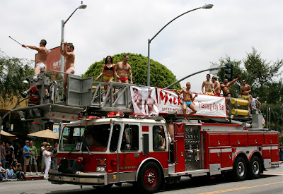 West Hollywood Gay Pride Parade 2009 Micky's bar hunks