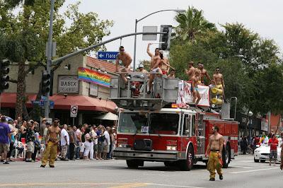 Hot firemen at West Hollywood Gay Pride Parade 2009