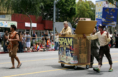 West Hollywood Gay Pride Parade 2009 Spamalot float