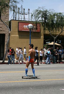 West Hollywood Gay Pride Parade 2009 hot skateboard guy