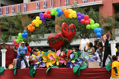 Love float at West Hollywood Gay Pride Parade 2009