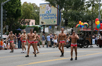 West Hollywood hunks Gay Pride Parade 2009