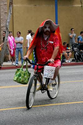 Cycling sister at West Hollywood Gay Pride Parade 2009