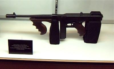 Public Enemies submachine gun movie prop