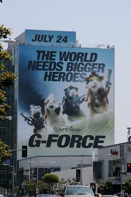 Disney's G-Force movie billboard