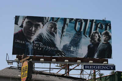 Harry Potter and the Half-Blood prince movie bilboard