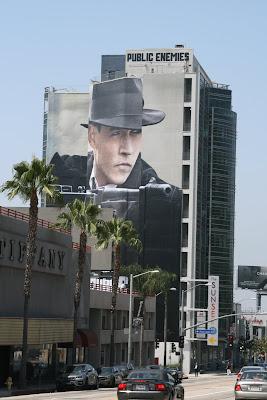 JOhnny Depp Public Enemies movie billboard along Sunset Blvd