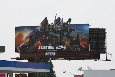 Optimus Prime Transformers 2 movie billboard
