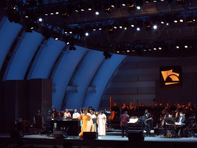 Aretha Franklin performs at Hollywood Bowl