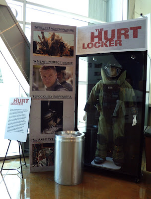 The Hurt Locker movie costume on display at ArcLight Hollywood