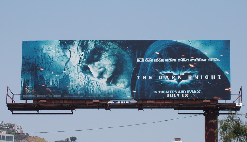 The Dark Knight Joker movie billboard