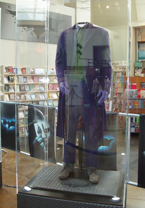 Heath Ledger's Joker costume in The Dark Knight movie