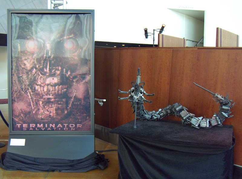 Terminator Salvation robot prop and 3D poster
